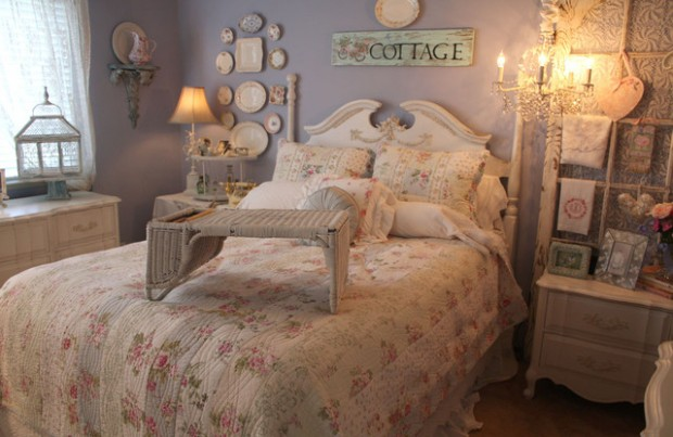 16 Vintage Inspired Chic Bedroom Design Ideas  (14)