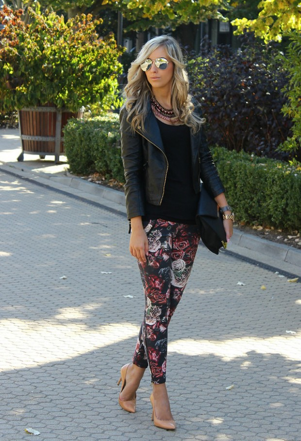 17 Amazing Outfit Ideas with Floral Pants (13)