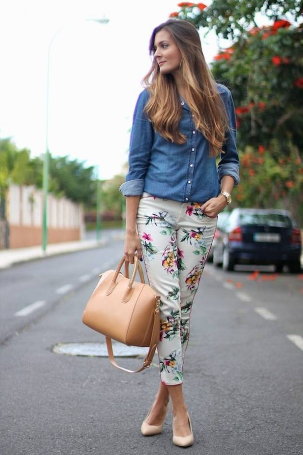 17 Amazing Outfit Ideas with Floral Pants (16)