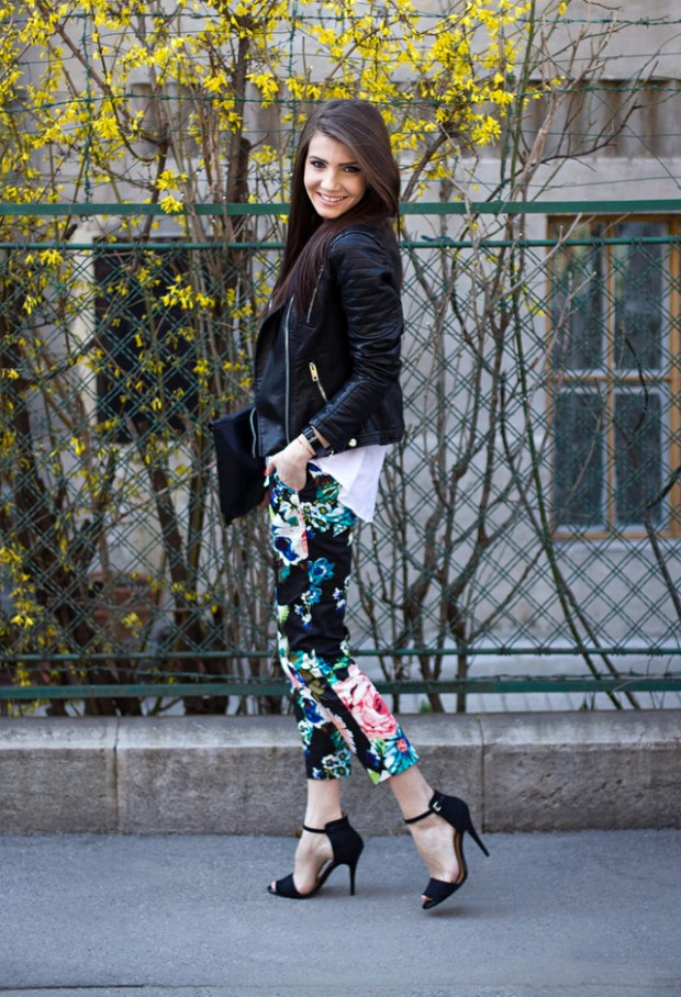 17 Amazing Outfit Ideas with Floral Pants (8)
