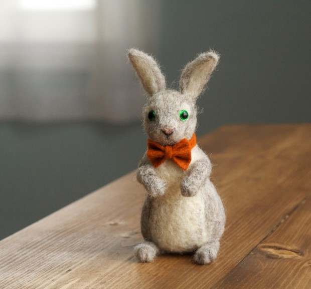 17 Cute & Handmade Needle Felted Easter Decorations (15)