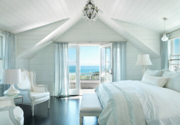 17 Gorgeous Beach Style Bedroom Design Ideas - bedroom with ocean view, bedroom design, bedroom, beach style interior, beach style design, beach style bedroom