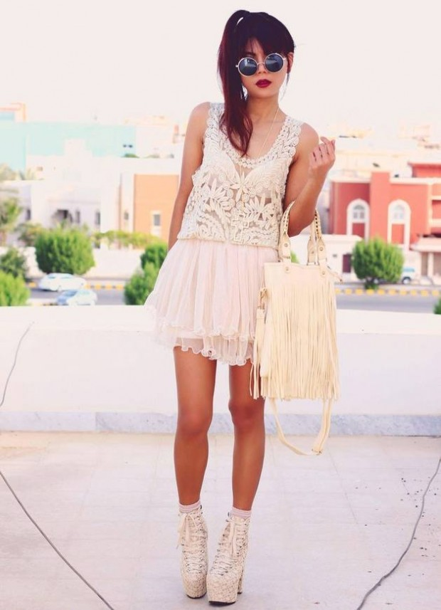 17 Outfit Ideas with Tulle Skirts for Romantic Look (11)