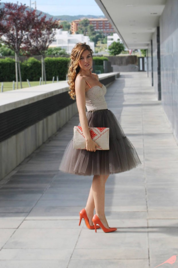 17 Outfit Ideas with Tulle Skirts for Romantic Look (12)