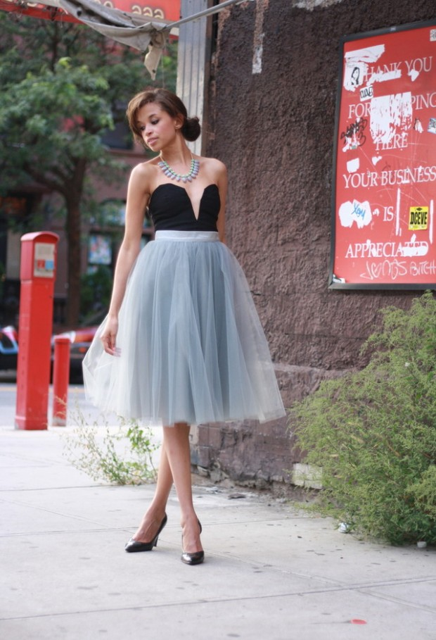17 Outfit Ideas with Tulle Skirts for Romantic Look (14)