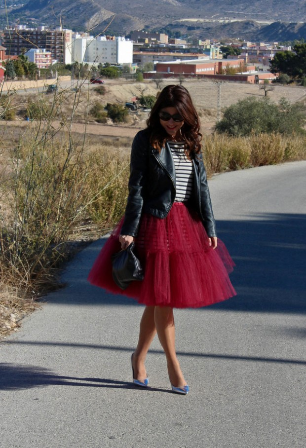 17 Outfit Ideas with Tulle Skirts for Romantic Look (16)