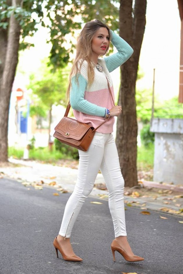 17 Stylish Comfortable Street Style Outfit Combinations for Spring   (4)