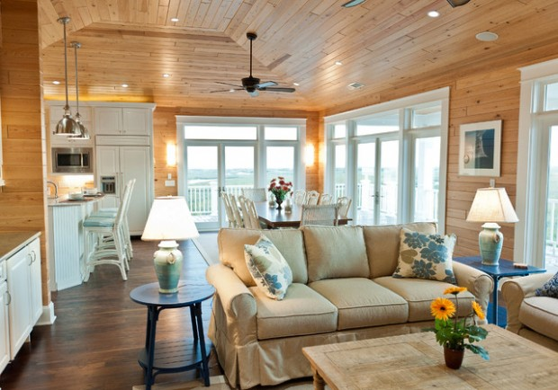 18 beach cottage interior design ideas inspired by the sea for Beach house interior decorating ideas