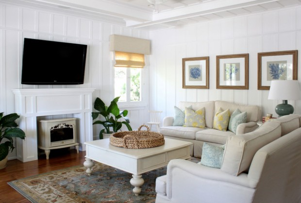 Beach House Decor Ideas Also Cottage Style Decorating Living Room