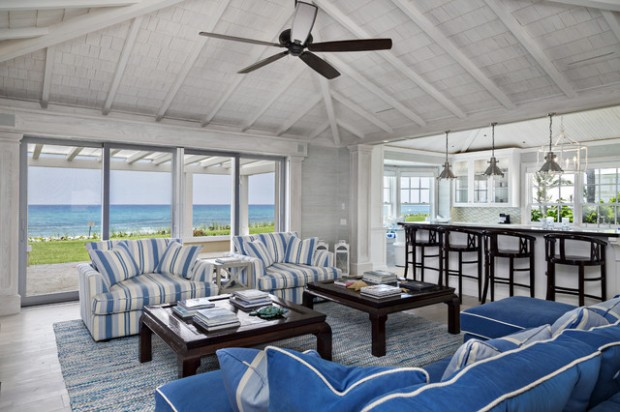 sunroom interior design on beach cottage ocean interiors design
