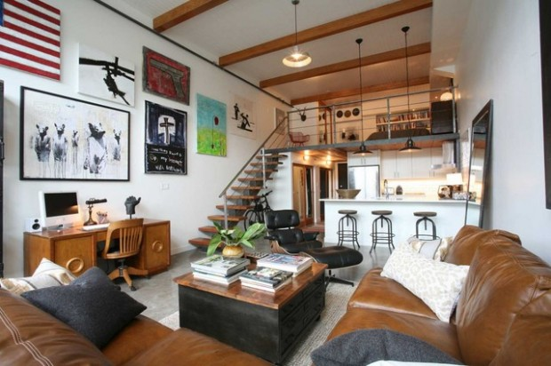 18 functional and creative design and decor ideas for Small loft apartment design