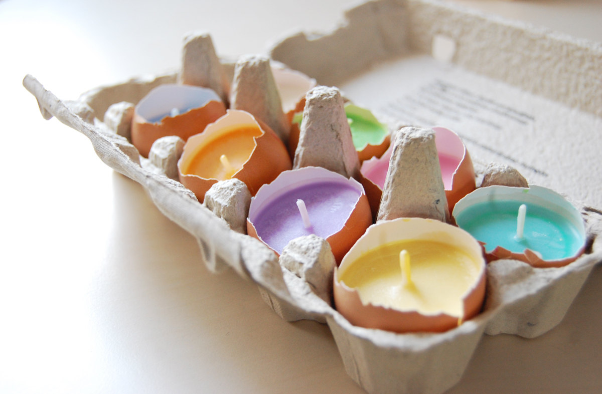 Craft Easter Egg Candle