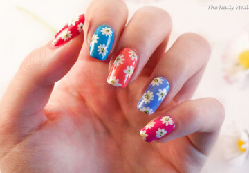 17 Lovely Nail Art Ideas in Bright Colors and Creative Designs - nail design ideas, nail art ideas, creative nail art ideas, bright colors