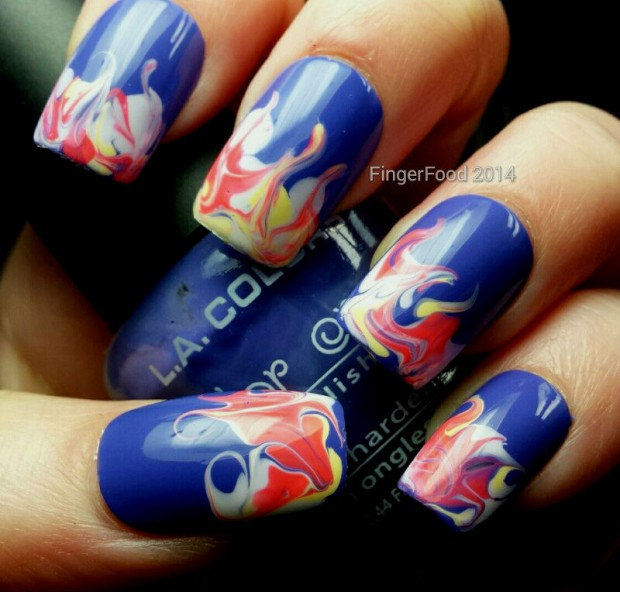 18 Lovely Nail Art Ideas in Bright Colors and Creative Designs (8)