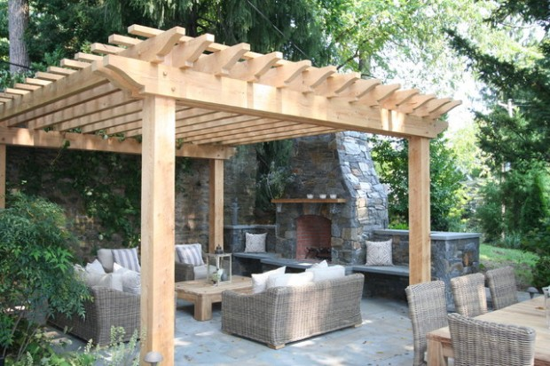 18 Lovely Pergola Design Ideas for Your Outdoor Area (10)