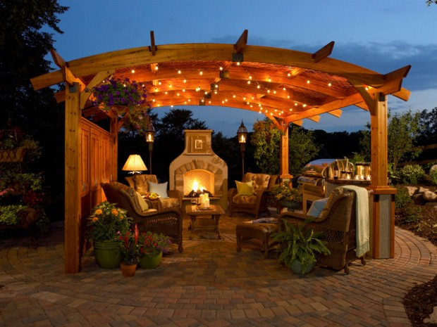 18 Lovely Pergola Design Ideas for Your Outdoor Area (4)