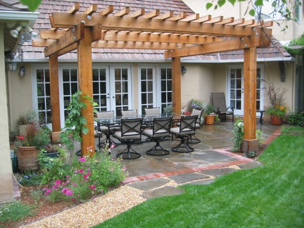 18 Lovely Pergola Design Ideas for Your Outdoor Area (7)