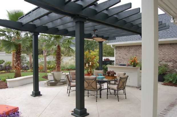 18 Lovely Pergola Design Ideas for Your Outdoor Area (8)