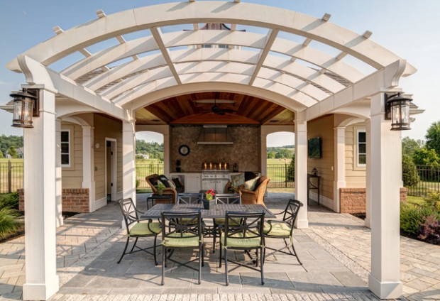 18 Lovely Pergola Design Ideas for Your Outdoor Area (9)