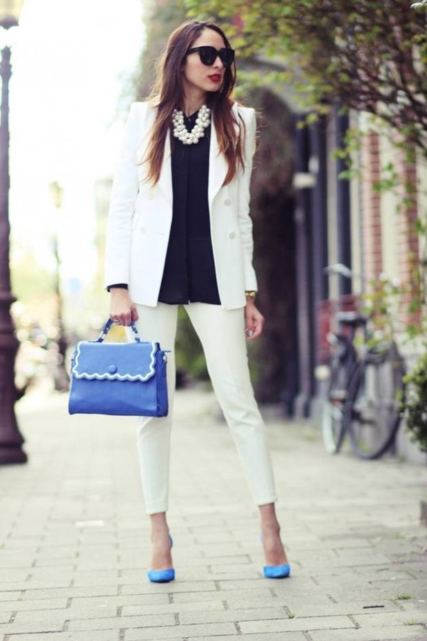 18 Stylish Outfits with Statement Necklaces        (12)