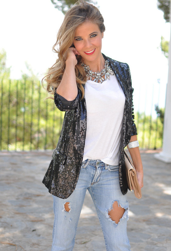 18 Stylish Outfits with Statement Necklaces        (6)