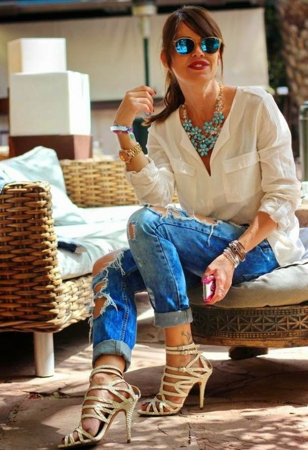 18 Stylish Outfits with Statement Necklaces        (7)