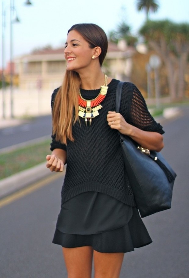 18 Stylish Outfits with Statement Necklaces        (8)