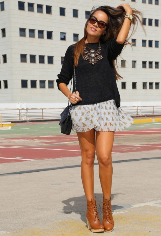 18 Stylish Outfits with Statement Necklaces        (9)