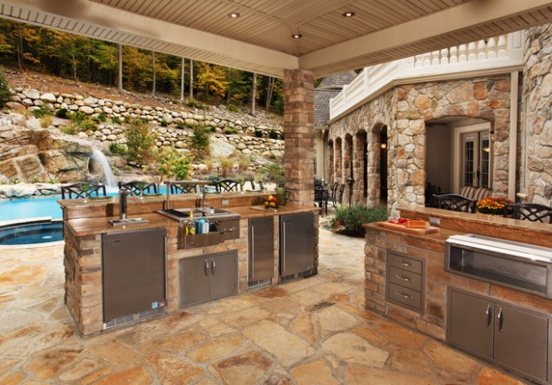 19 amazing outdoor kitchen design ideas style motivation for Outdoor kitchen cabinets plans
