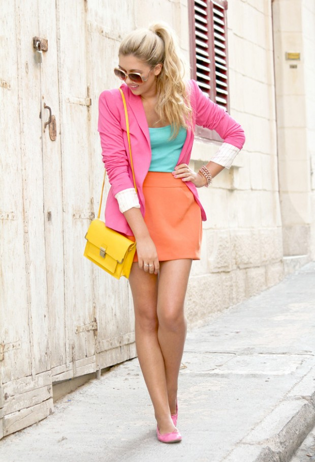 19 Color Block Outfits Ideas for Fabulous Look (12)