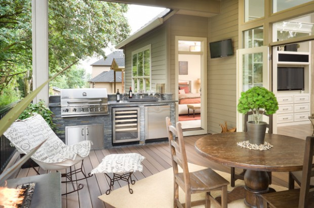 20 Amazing Patio Design Ideas with Outdoor Barbecue (1)