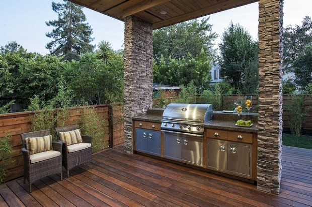 18 amazing patio design ideas with outdoor barbecue for Outdoor bbq designs plans
