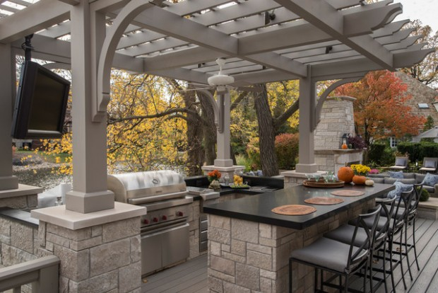 20 Amazing Patio Design Ideas with Outdoor Barbecue (13)
