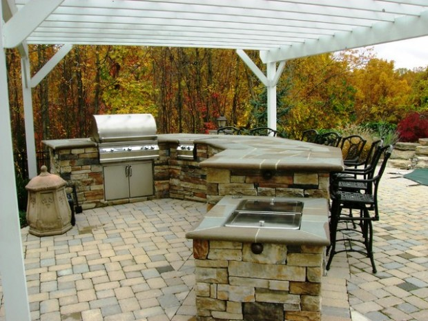 18 amazing patio design ideas with outdoor barbecue for Backyard built in bbq ideas