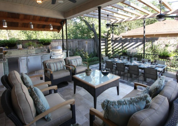 20 Amazing Patio Design Ideas with Outdoor Barbecue (19)