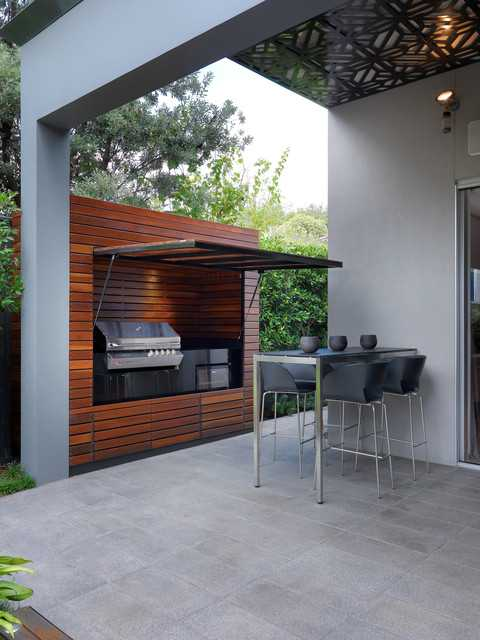 18 amazing patio design ideas with outdoor barbecue for Outside barbecue area design