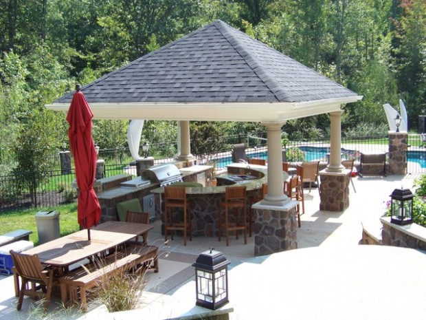 20 Amazing Patio Design Ideas with Outdoor Barbecue (7)