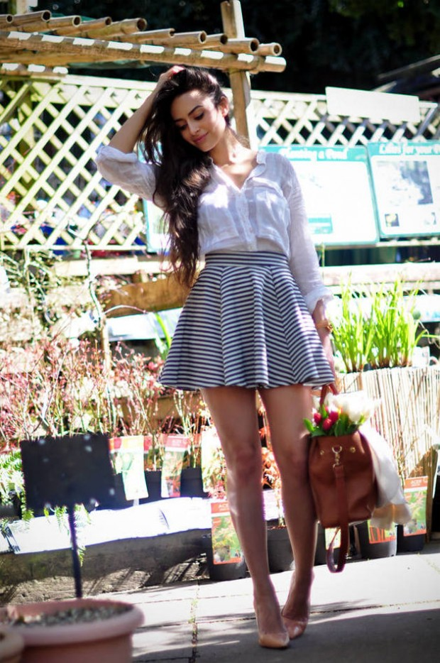 20 Outfits with Skirts for Trendy Chic Spring Look (12)