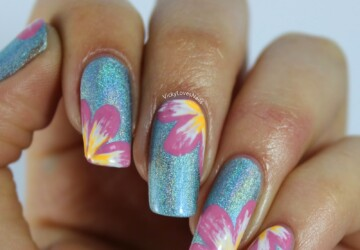 20 Delightful Spring Nails Art That Will Inspire You - spring nail art, Spring nail, nails, floral nail art, cute nails, colorful nail