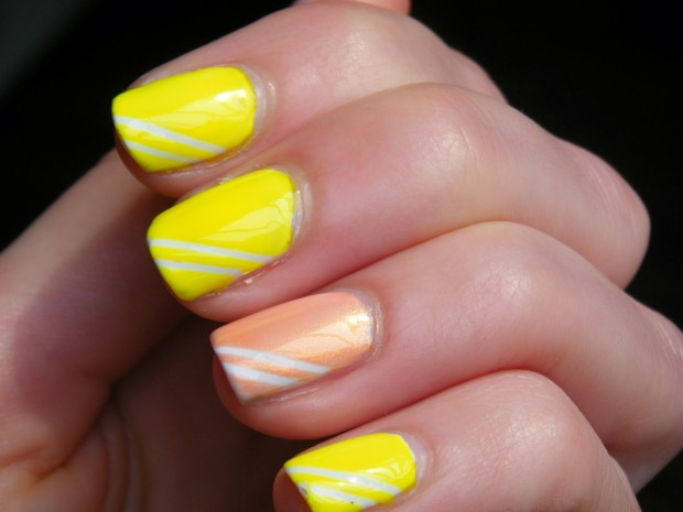 Different Shades of Yellow on Your Nails for Crazy Summer Nail Design (10)