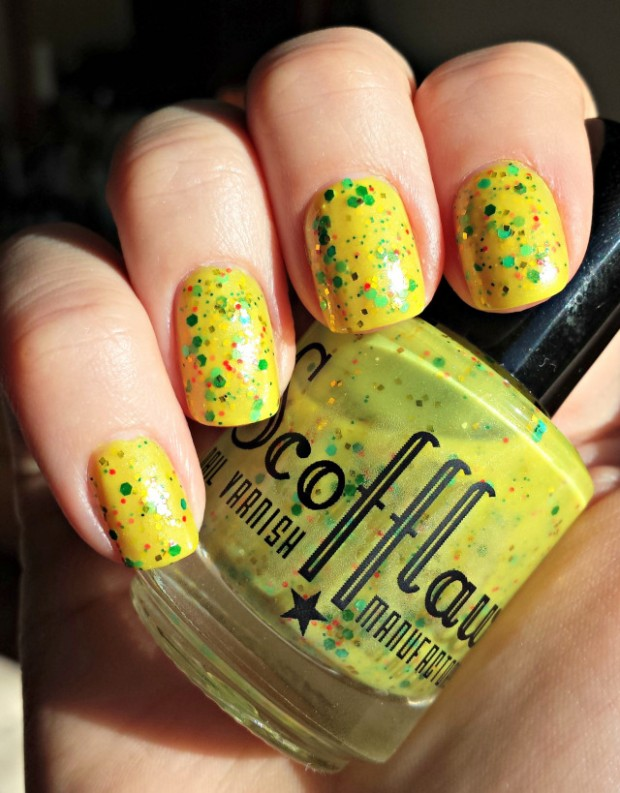 Different Shades of Yellow on Your Nails for Crazy Summer Nail Design (16)