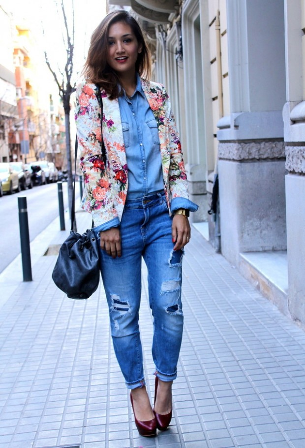 How to Wear Denim on Denim 17 Chic Outfit Ideas  (12)