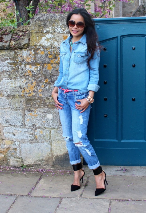 How to Wear Denim on Denim 17 Chic Outfit Ideas  (4)