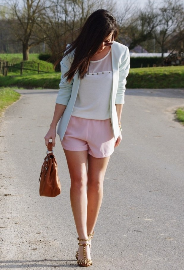 Pastel Colors for Fresh Spring Look 16 Cute Outfit Ideas (6)