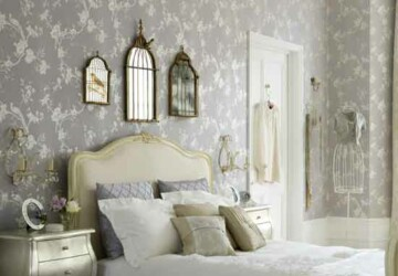 Creating a Vintage-Inspired Bedroom - Vintage-Inspired Bedroom, vintage, Stencil a Wall Panel, bedroom