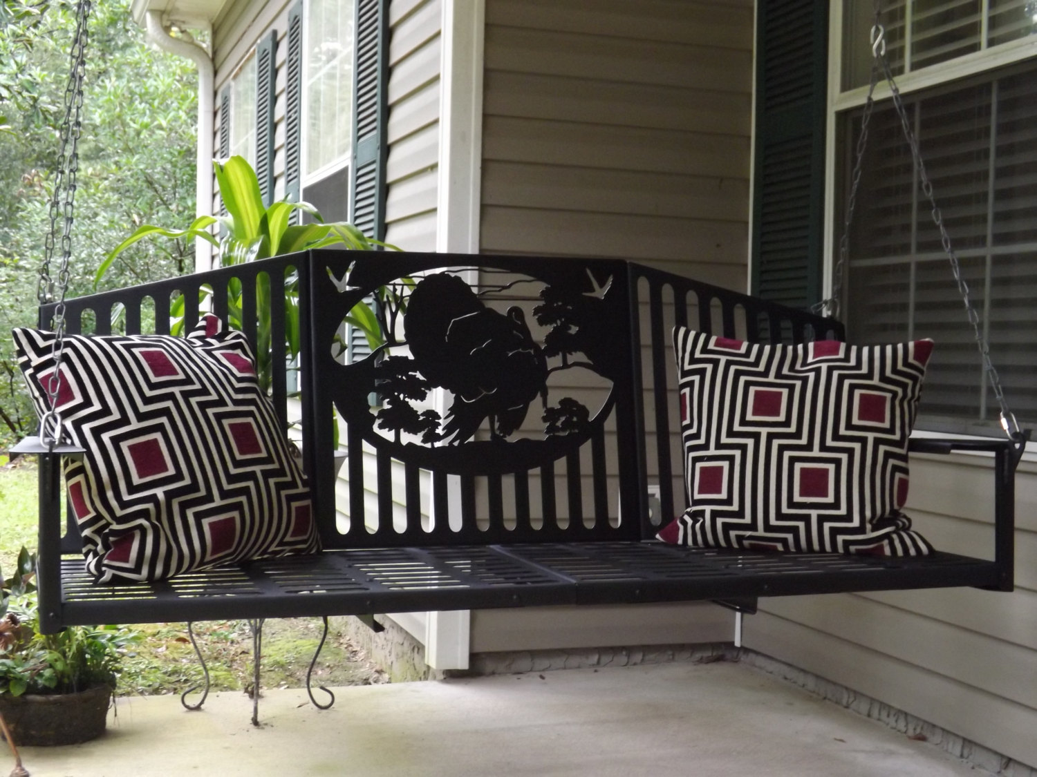 Metal Porch Swings Home Decor