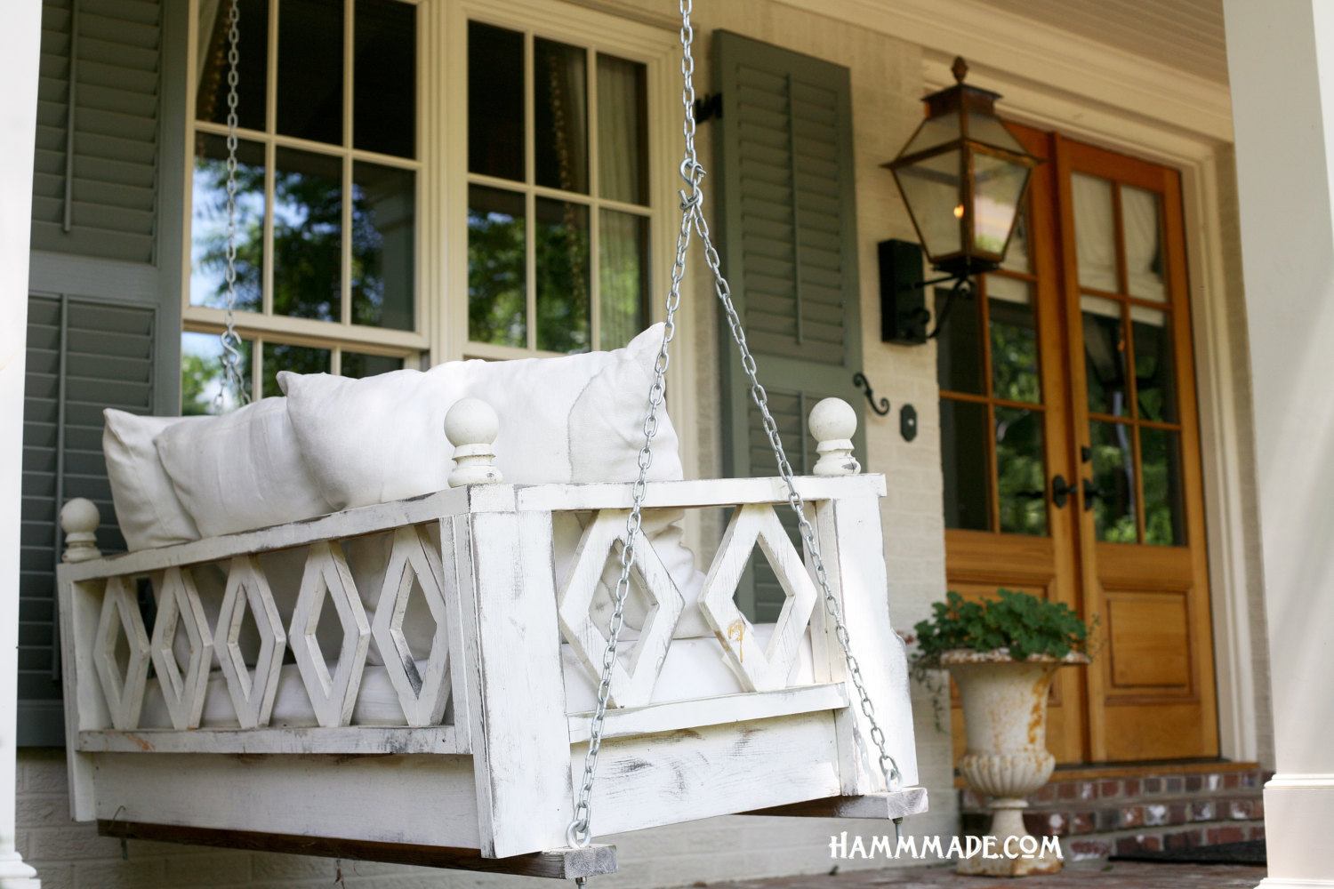 15 Custom Handcrafted Porch Swing Designs - Style Motivation
