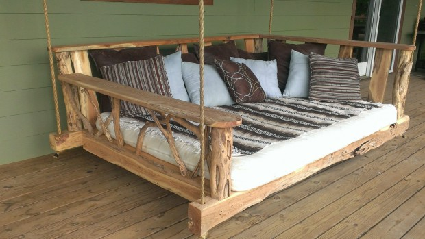 15 Custom Handcrafted Porch Swing Designs (4)