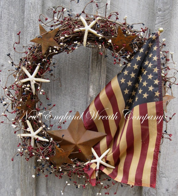 15 Festive Handmade 4th of July Wreath Designs (15)