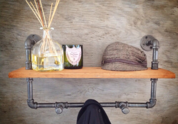 15 Smart Handmade Organization Ideas - wooden, wine, Storage, shelves, shelf, rustic, rack, organizer, Organization, hook, hanger, handmade, diy, coat